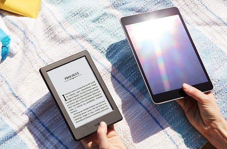 Màn hình của máy đọc sách Kindle có khả năng chống lóa