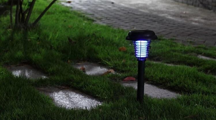 Đèn bắt muỗi giúp loại bỏ một phần muỗi quanh môi trường sống