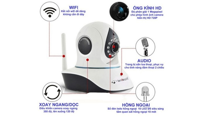 Camera IP Wifi Vantech VT-6300B