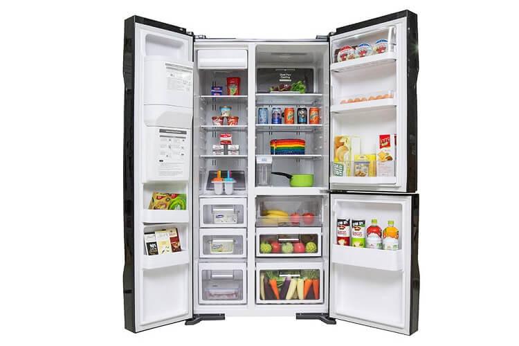 Tủ lạnh side by side có cảnh cửa mở hai bên