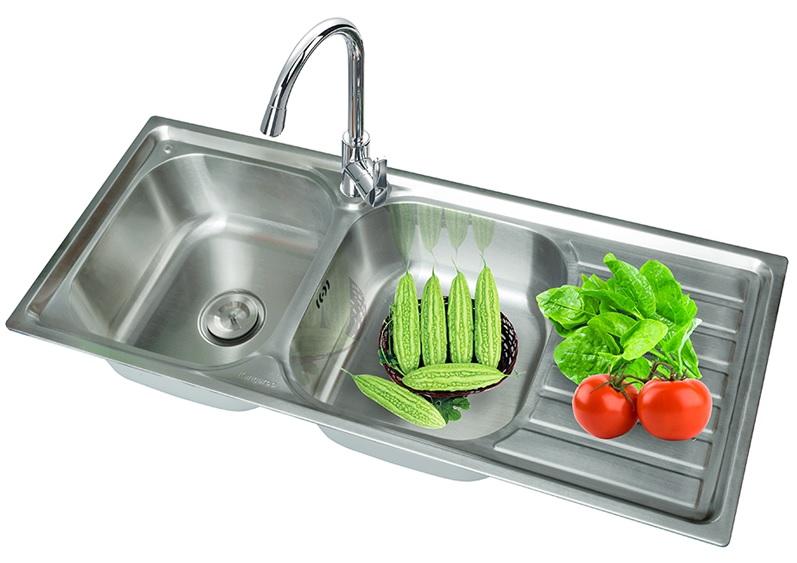 Chậu rửa bát Inox bền, đẹp, rẻ và dễ dàng vệ sinh