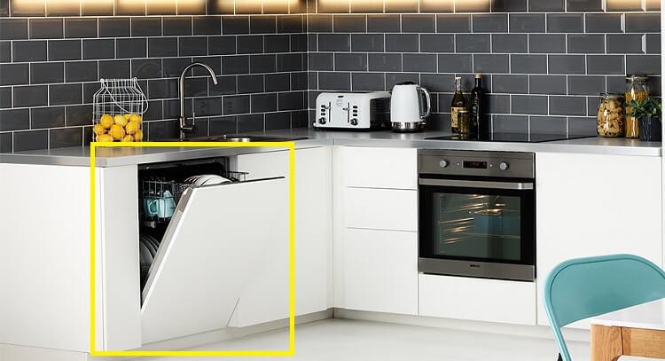 Bức ảnh này giúp bạn hình dung kích thước thông thường của một máy rửa bát