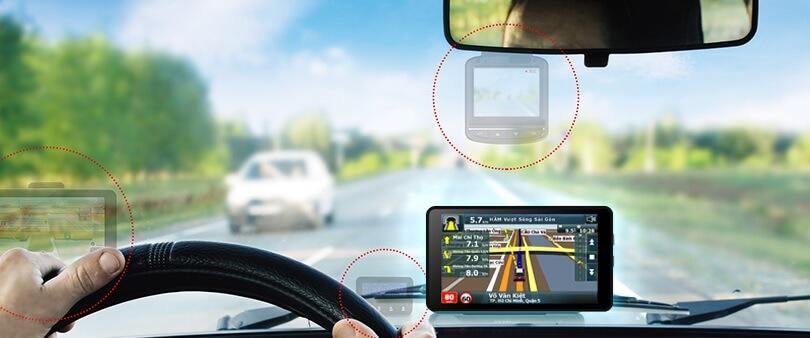 Camera hành trình Vietmap đều được trang bị định vị GPS và chỉ đường