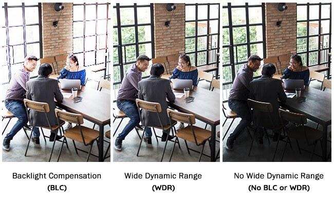 Công nghệ BLC và WDR giúp ghi hình trong điều kiện thiếu sáng