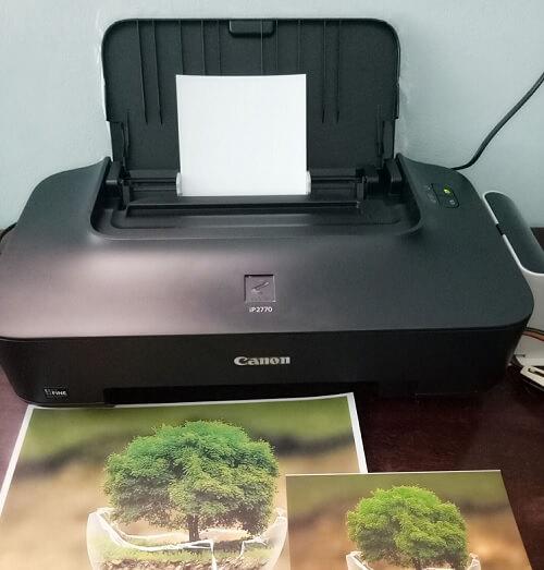 Máy in phun được sử dụng nhiều trong in ảnh, in màu