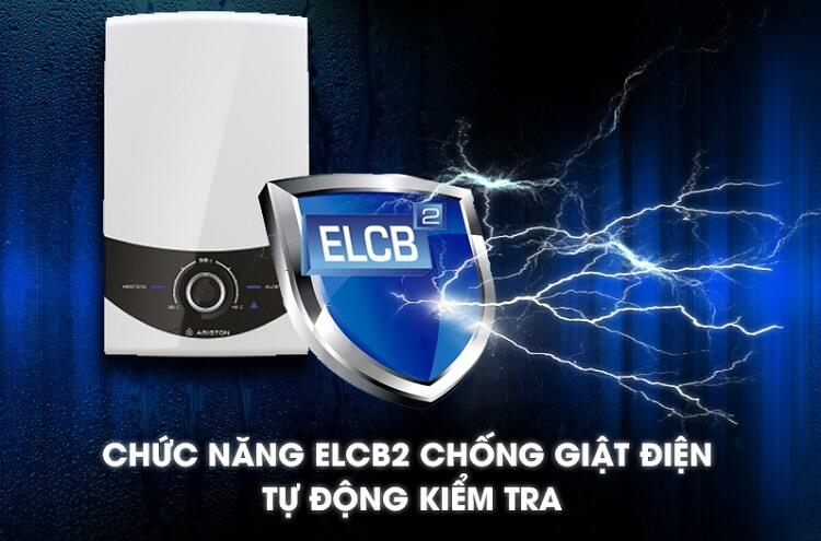 Máy nước nóng trực tiếp luôn được trang bị Cầu dao chống giật lưỡng cực ELCB