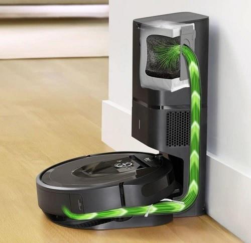 Roomba i7+ có khả năng tự xả rác khi ngăn chứa đầy