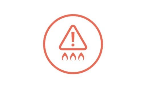 Bếp từ Electrolux được trang bị đèn cảnh báo nhiệt độ