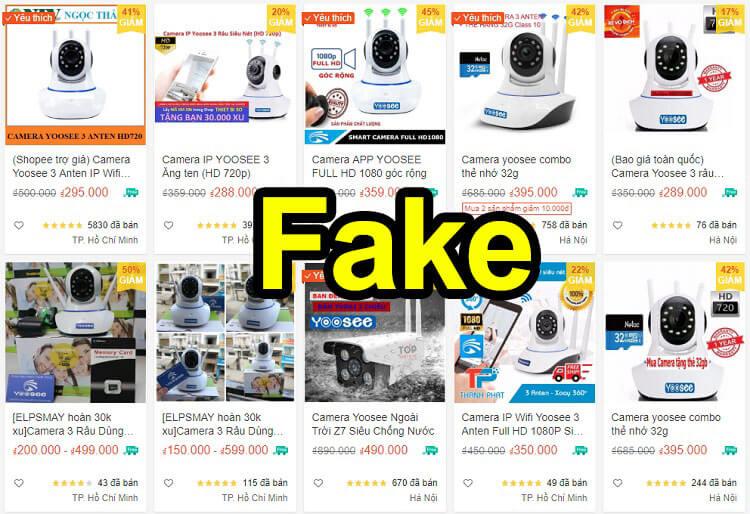 Camera Wifi Yoosee trên thị trường có logo đều là giả