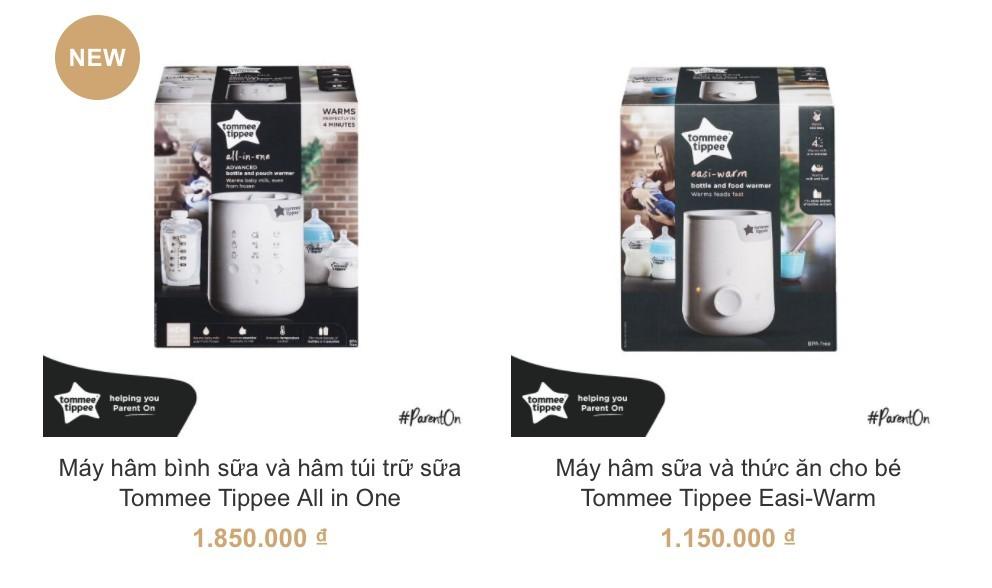 Máy hâm sữa cao cấp Tommee Tippee