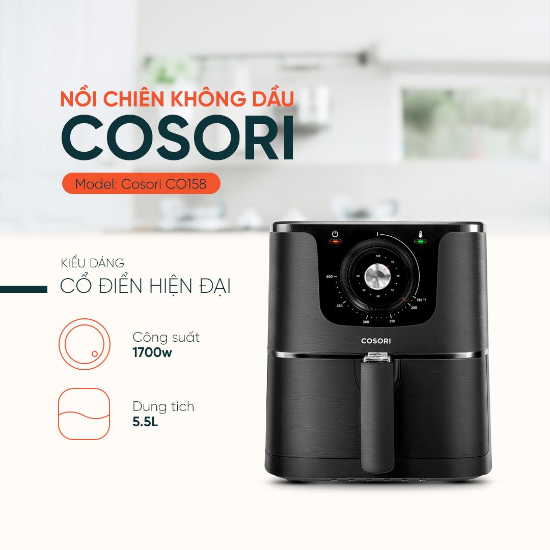 Nồi chiên không dầu Cosori CO158-AF 5,5 lít đen